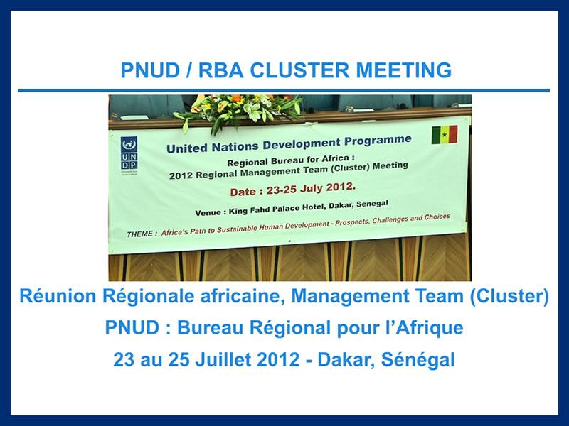 RBA CLUSTER MEETING : 23 au 25-07-2012