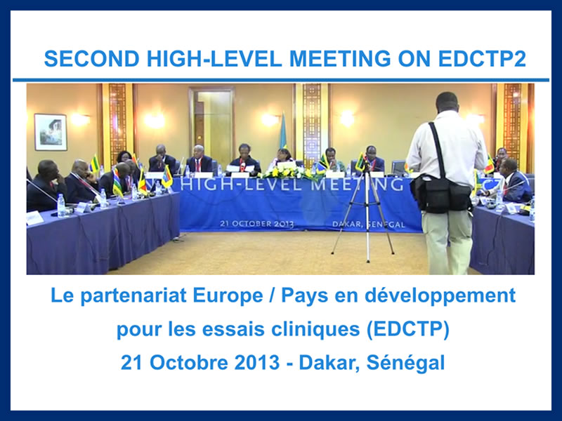 SECOND HIGH-LEVEL MEETING ON EDCTP2 : 21-10-2013
