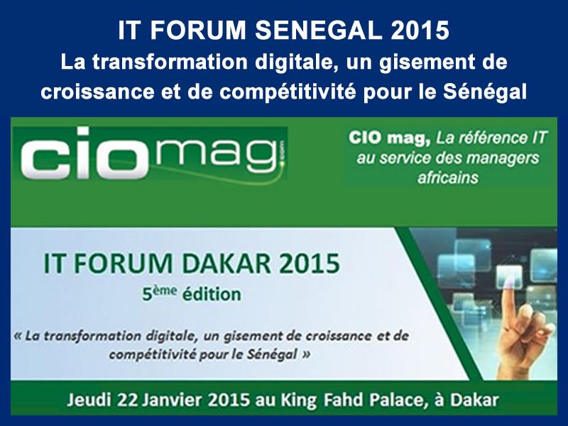 CIO-MAG – IT FORUM SENEGAL : 22-01-2015