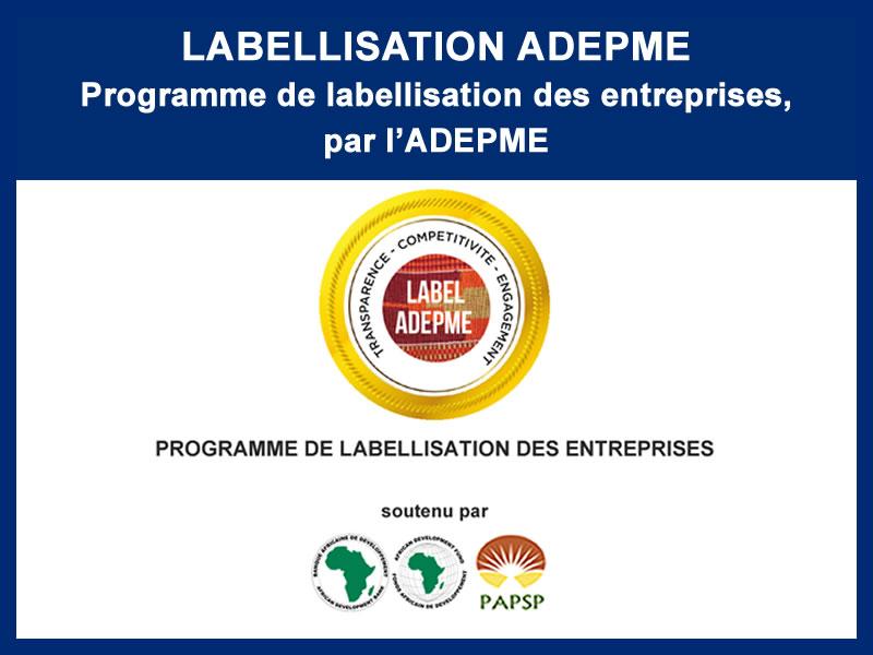 PROGRAMME DE LABELLISATION ADEPME : 07-2016 – 03-2017