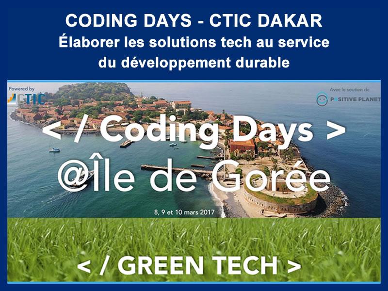 CODING DAYS – CTIC DAKAR : 08 au 10-03-2017