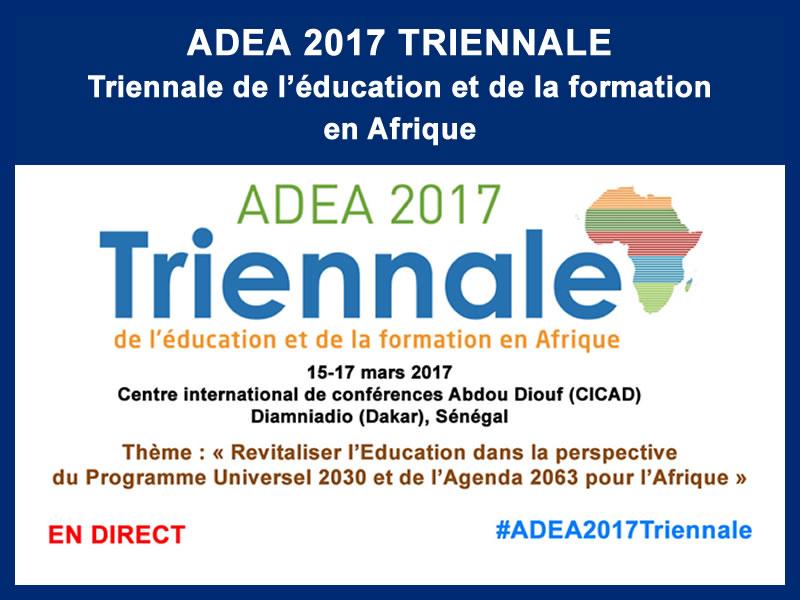 ADEA 2017 TRIENNALE : 15, 16 et 17 mars 2017