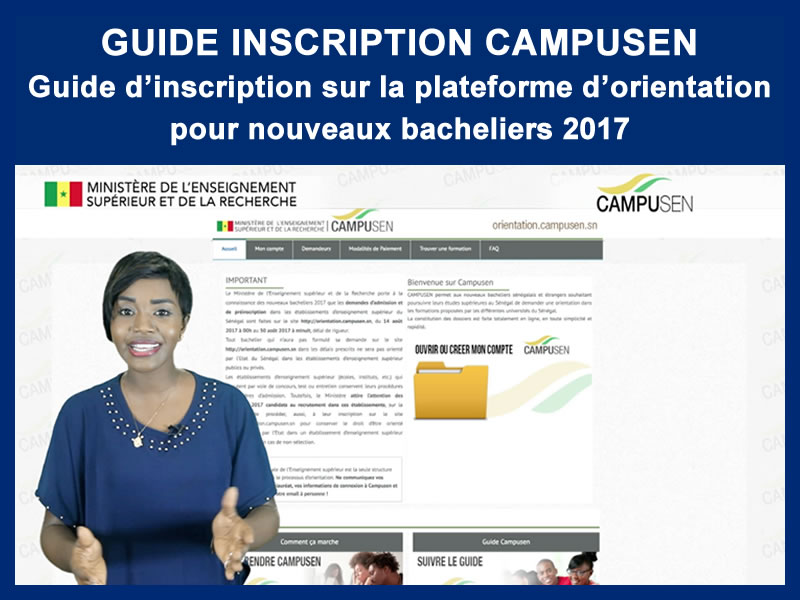 GUIDE INSCRIPTION CAMPUSEN : 14-08-2017
