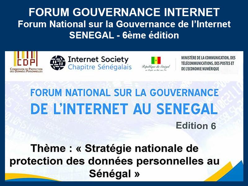 FORUM NATIONAL SUR LA GOUVERNANCE DE L'INTERNET – FGISN – ISOC – CDP : 11 et 12-10-2018