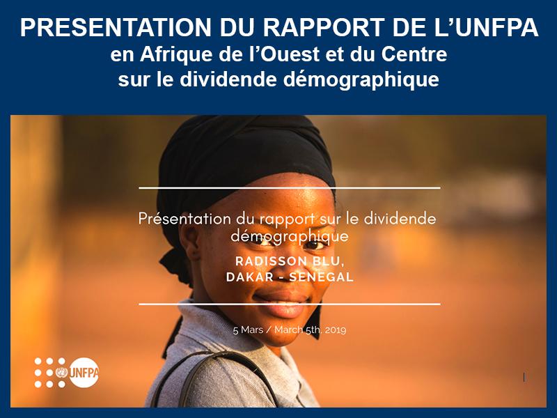 PRÉSENTATION RAPPORT UNFPA : 05-03-2019