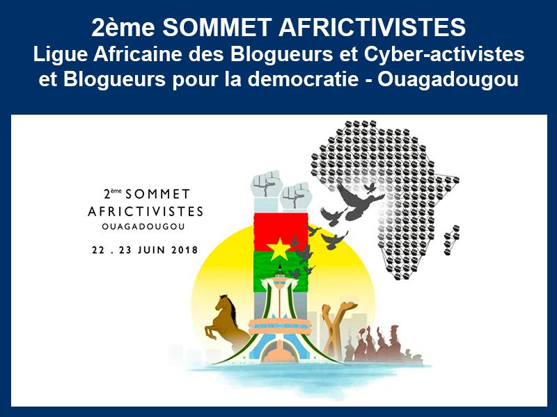 2ème SOMMET AFRICTIVISTES – OUAGADOUGOU : 22 et 23-06-2018