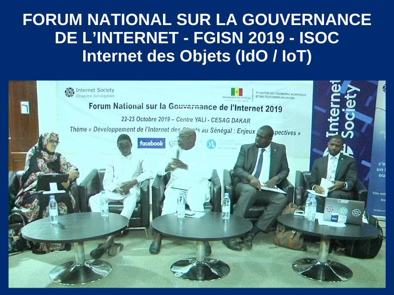 FORUM NATIONAL SUR LA GOUVERNANCE DE L'INTERNET – FGISN 2019 INTERNET DES OBJETS (IDO / IOT) : 23-10-2019