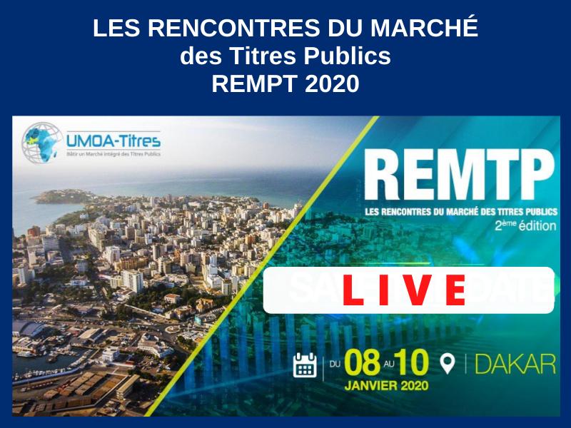 LES RENCONTRES DU MARCHÉ DES TITRES PUBLICS (REMTP) : 8 au 10-01-2020
