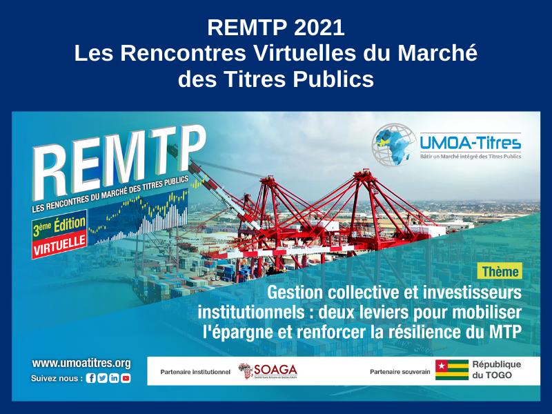 LES RENCONTRES VIRTUELLES DU MARCHÉ DES TITRES PUBLICS : 20, 21 ET 22 JANVIER 2021